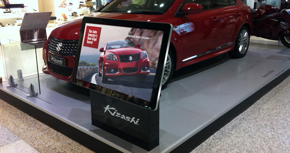 Indoor Digital Signage Screen for Car Feature