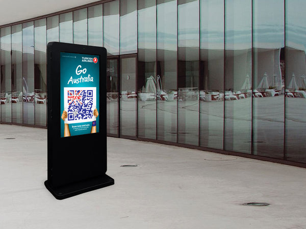 Outdoor Freestanding Digital Screen with Advertising