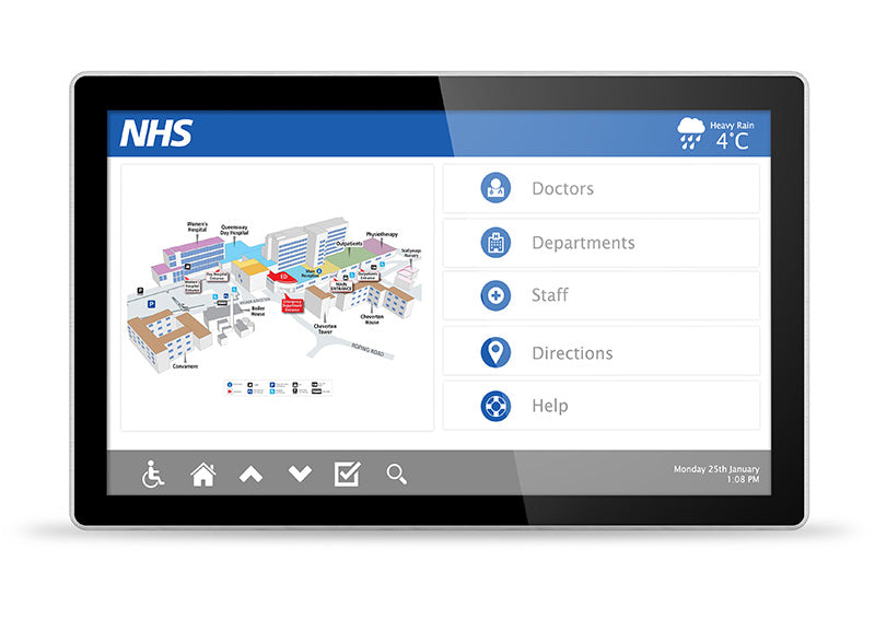 Digital Touch Screen for NHS