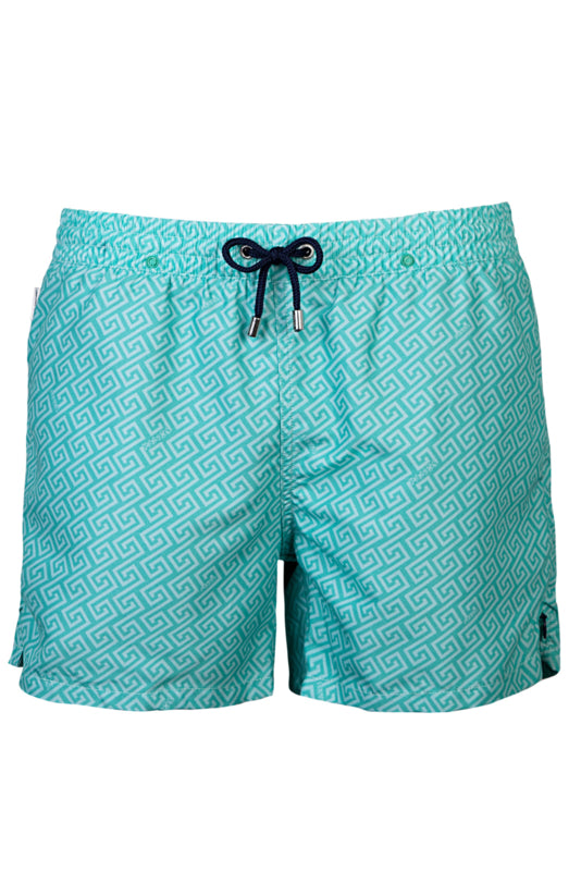 Panos Emporio - Meander Green Holiday Swim Short