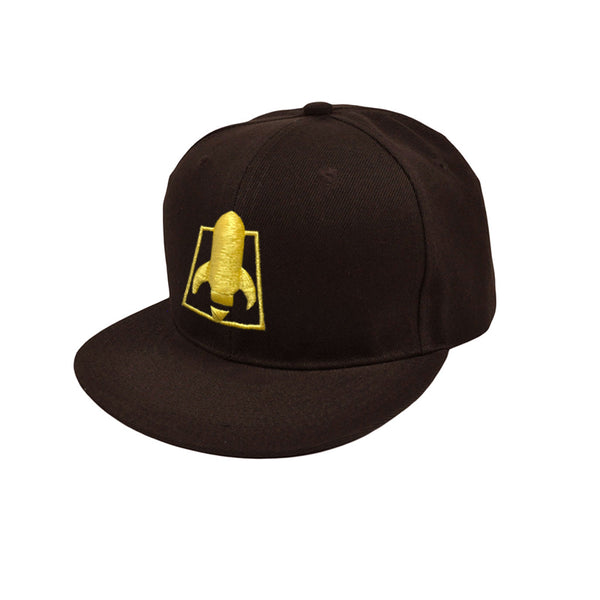 ROCKET LOGO BROWN SNAPBACK HAT