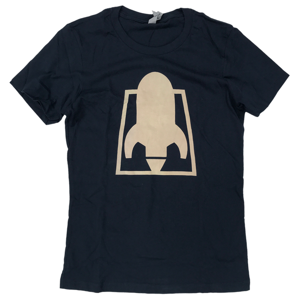 RFTC LADIES 'ROCKET LOGO' NAVY T-SHIRT