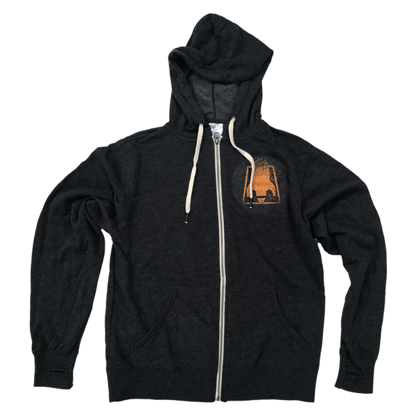 RFTC 'ROCKET LOGO' DARK HEATHER GREY ZIP