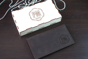 Leather Wallet with your Name / Logo / Initials