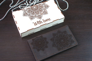 Mandala Leather Wallet
