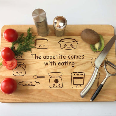 Engraved Wooden Cutting Board 30 x 45