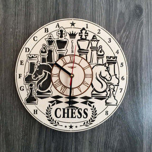 Chess Wall Wood Clock