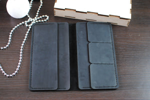 Black Unisex Leather Wallet