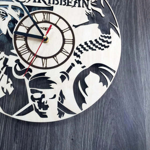 Pirates of the Caribbean Wall Wood Clock