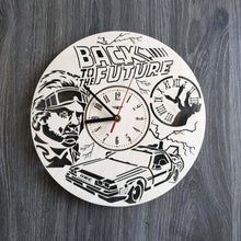 Back To Future Wall Wood Clock