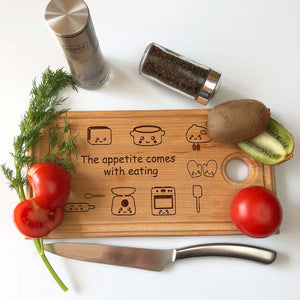 Engraved Wooden Cutting Board 16 x 30