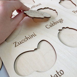 Learning Wood Puzzle Vegetables