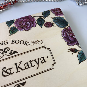 Painted Wedding Guest Book / Photo Album