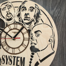 System of a Down Wall Wood Clock
