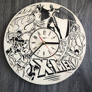 X Men Wall Wood Clock