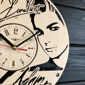 Adam Lambert Wall Wood Clock