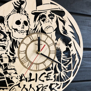 Alice Cooper Wall Wood Clock