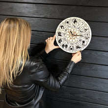 Zodiac Signs Wall Wood Clock