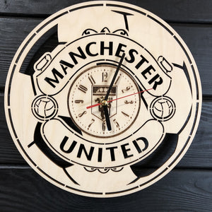 Manchester United Wall Wood Clock