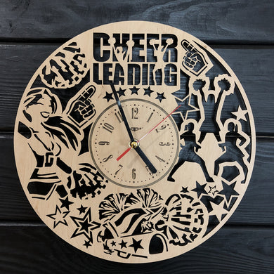 Cheerleading Wall Wood Clock