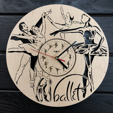 Ballet Wall Wood Clock
