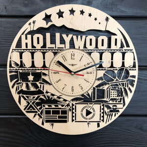 Hollywood Wall Wood Clock