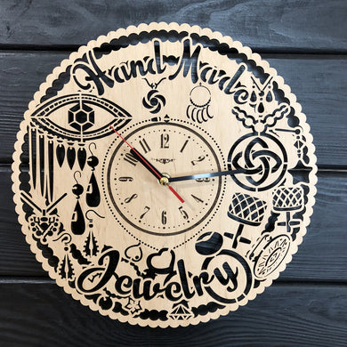 Jewelry Wall Wood Clock