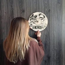 One Piece Wall Wood Clock