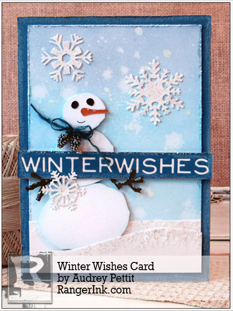 Winter Wishes Card by Audrey Pettit