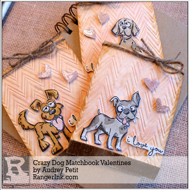 Crazy Dog Matchbook Valentines by Audrey Pettit
