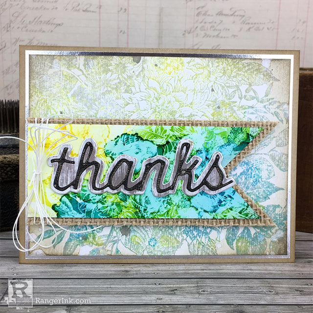 Alcohol Lift Ink Thanks Card by Bobbi Smith