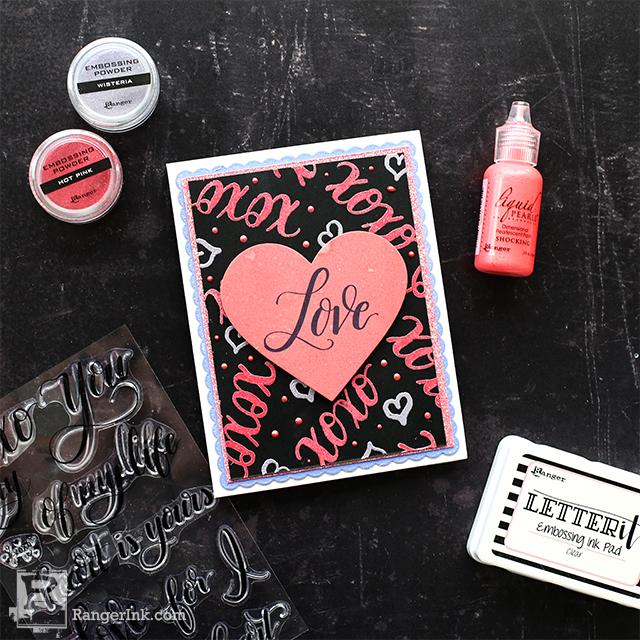 Letter It™ Embossed Valentines by Cheiron Brandon