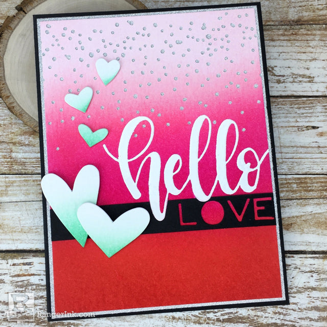 Hello Love Valentine Card by Bobbi Smith