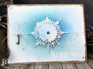 Snowflake Thank You Card by Bobbi Smith