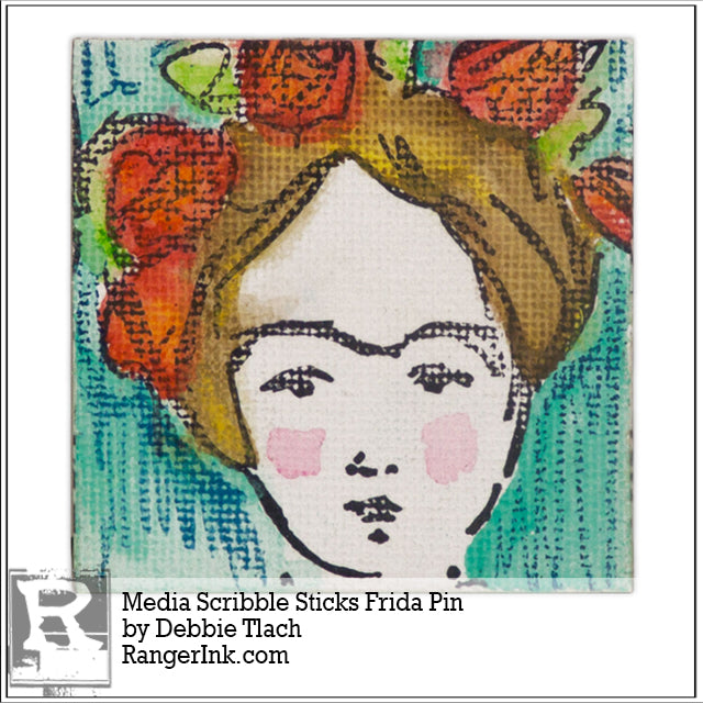 Media Scribble Sticks Frida Pin by Debbie Tlach