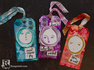 Alcohol Ink Journal Tags by Cheiron Brandon