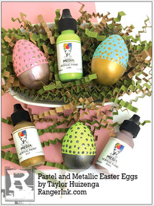 Pastel and Metallic Easter Eggs by Taylor Huizenga