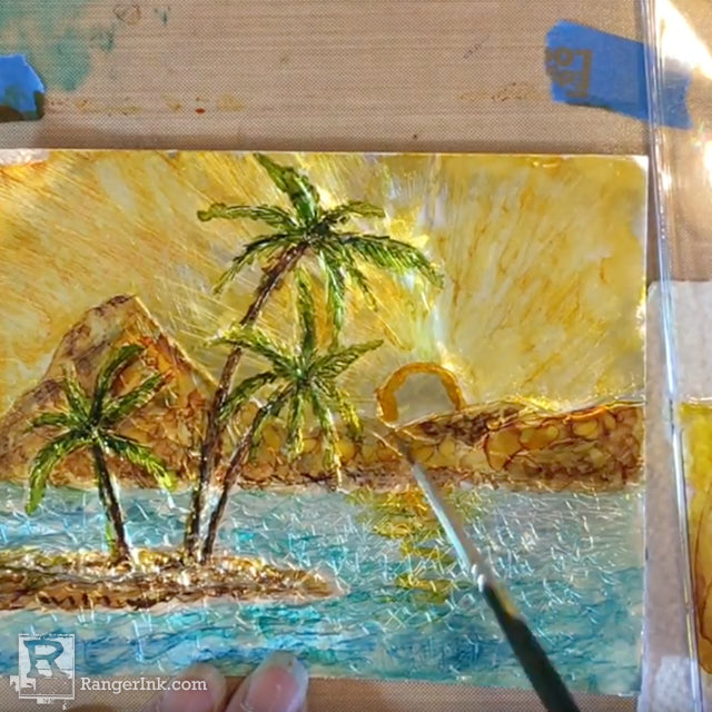 Painting Alcohol Ink on Foil