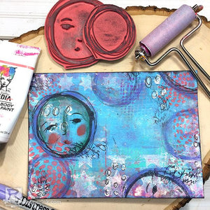 Gel Plate Mixed Media Envelopes by Carisa Zglobicki