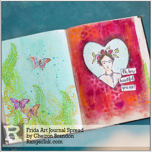 Frida Art Journal Spread by Cheiron Brandon