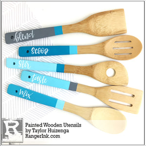 Painted Wooden Utensils by Taylor Huizenga
