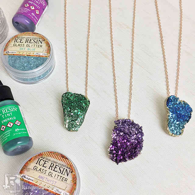 Faux Birthstone Druzy Pendant by Kelly Kronowski