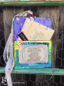 Dylusions Pocket Tag by Kristi Nazzaro
