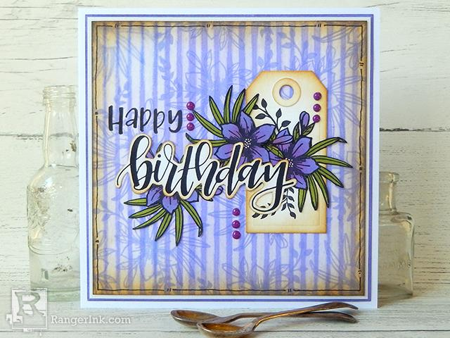 Archival Removal Birthday Card by Jenny Marples