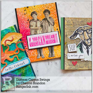 Distress Crayon Backgrounds by Cheiron Brandon