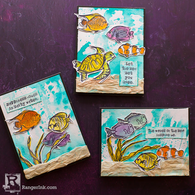 Scribbly Fishes Cards by Cheiron Brandon