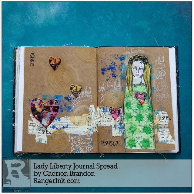 Lady Liberty Journal Spread by Cheiron Brandon