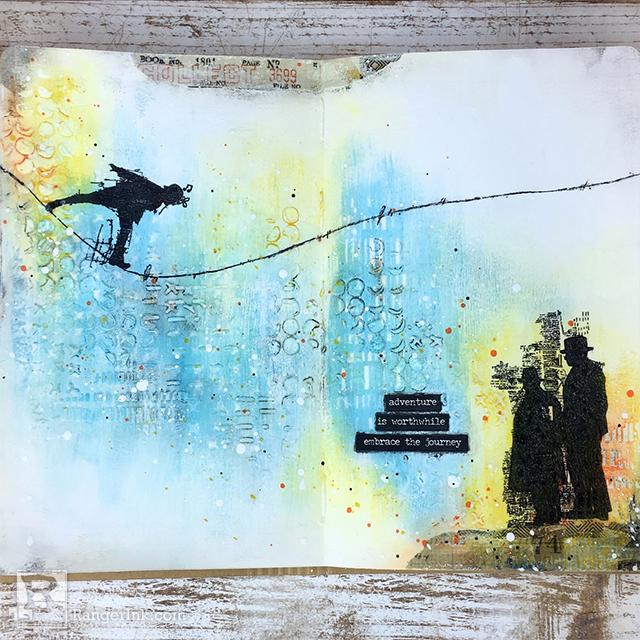 Adventure Art Journal Page by Bobbi Smith