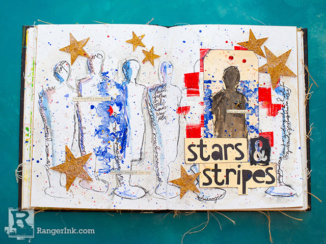 Stars and Stripes Journal Page by Cheiron Brandon