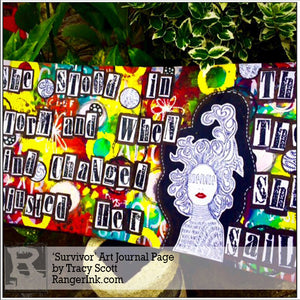 'Survivor' Art Journal Page by Tracy Scott